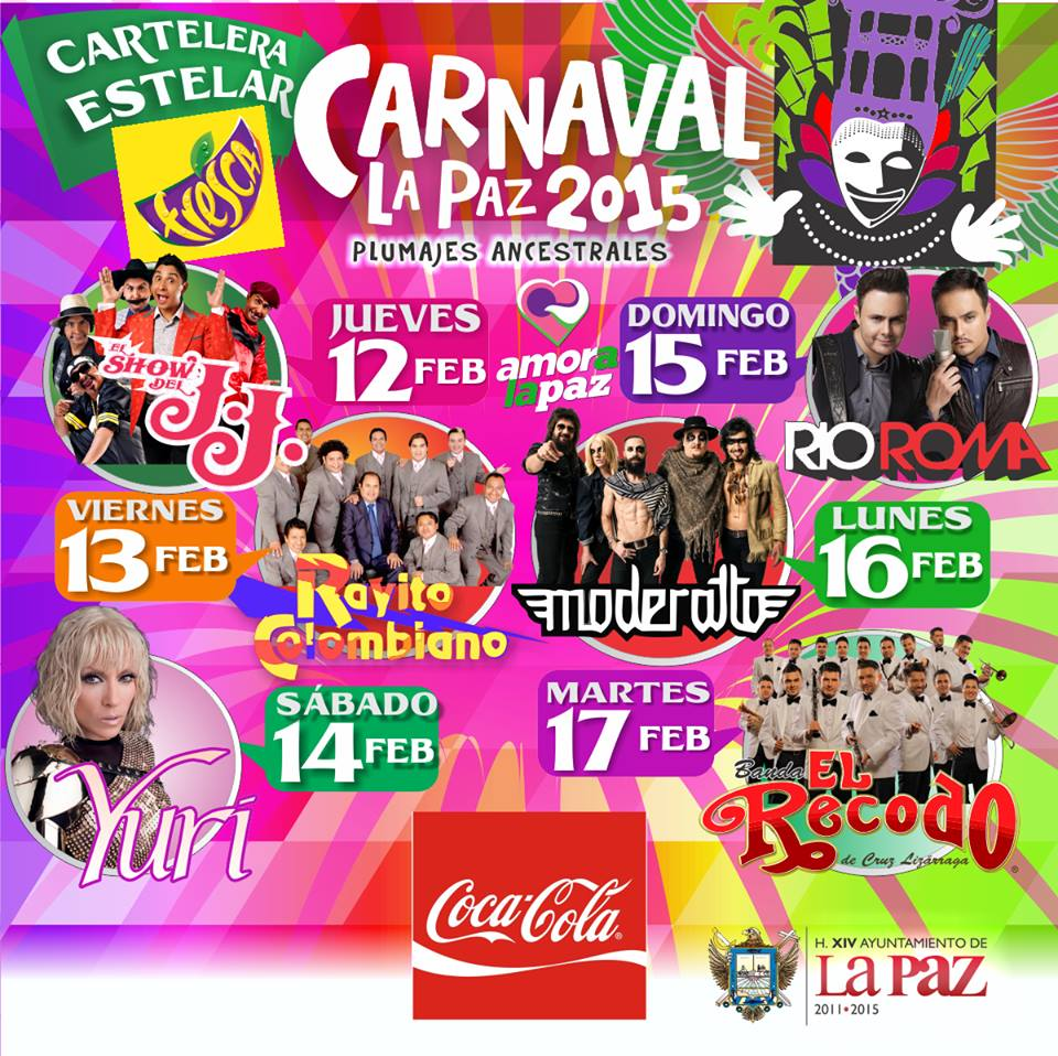 cartelera carnaval la paz 2015