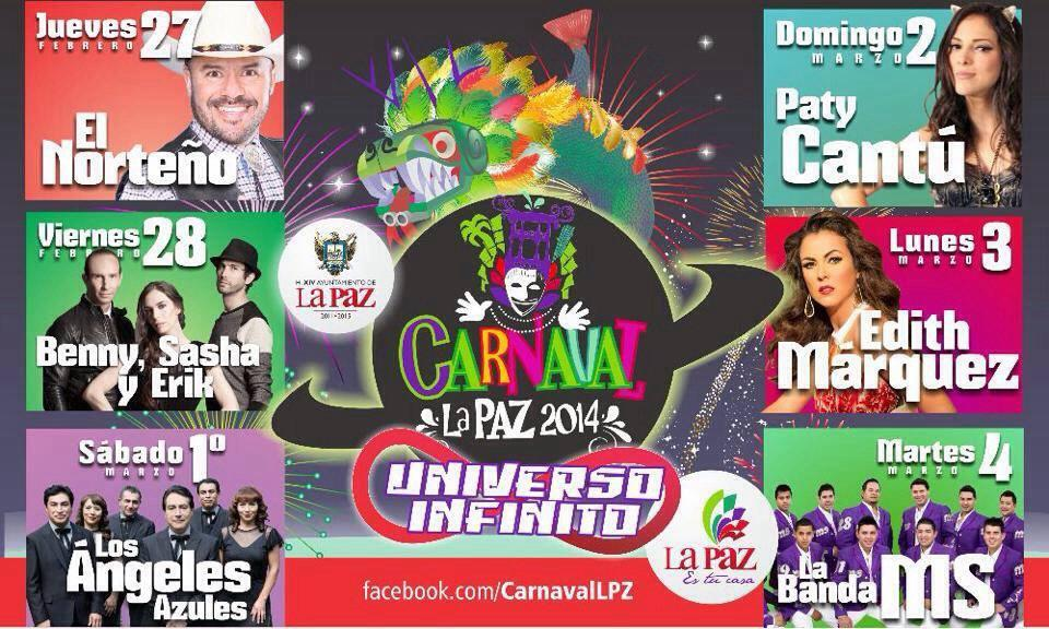 cartelera carnaval la paz 2014